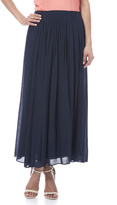 Tea n Rose Pleated Maxi Skirt