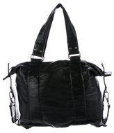 Dries Van Noten Ruched Leather Tote
