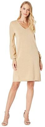 Lilly Pulitzer Sariya Sweaterdress (Heathered Sand Bar Metallic) Women's Clothing