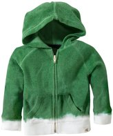 Burt's Bees Baby Bleach Bottom Zip Hoodie (Toddler/Kid) - Grass-4T