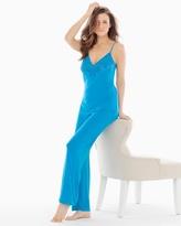Soma Intimates Cami and Pants Pajama Set Caribe Blue