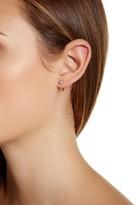 Botkier CZ Stone Elongated Wire Earrings