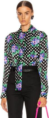 Balenciaga Scarf Blouse in Black | FWRD
