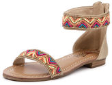 I Love Billy New Sheen Nude Multi Womens Shoes Casual Sandals Sandals Flat