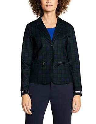 Street One Women's 2159 Caileen Suit Jacket, Multicolour (Deep Blue 312), 12 (Size: )