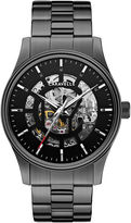 JCPenney CARAVELLE, NEW YORK Caravelle New York Mens Stainless Steel Skeleton Automatic Watch 45A121