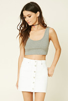 Forever 21 FOREVER 21+ Ribbed Trim Crop Top