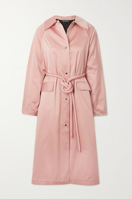 Kassl Editions Satin Belted Trench Coat - Baby pink