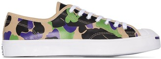 Converse Black leather Archive Prints Jack Purcell low top sneakers