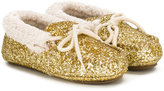 Ralph Lauren glitter ballerina shoes