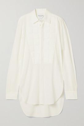 Bottega Veneta Embossed Silk Crepe De Chine Shirt - White