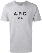 A.P.C. logo T-shirt - men - Cotton/Polyester - L