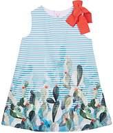 Il Gufo Kids' Striped Cotton Poplin Shift Dress