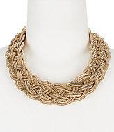 Natasha Accessories Metallic Braid Collar Necklace