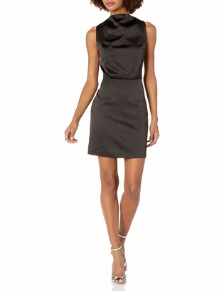 Elliatt Women's Apparel Women's Shimmer Cowl Neck Blouson Short Mini Dress