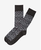 Express geo stripe dress socks
