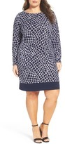MICHAEL Michael Kors Plus Size Women's Nyla Border Croc Print Shift Dress
