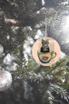 DENY Designs Coco De Paris Cat In A Cup Ornament