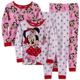Disney Disney's Minnie Mouse Toddler Girl 4-pc. Christmas Pajama Set