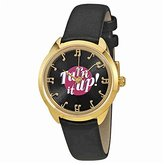 Kate Spade Women's 'Crosstown' Quartz Stainless Steel and Leather Watch, Color:Black (Model: KSW1148)