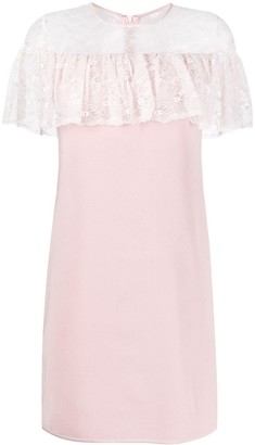 Giambattista Valli Lace Ruffle Mini Dress