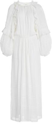Etoile Isabel Marant Justine Ruffled Crepe Midi Dress