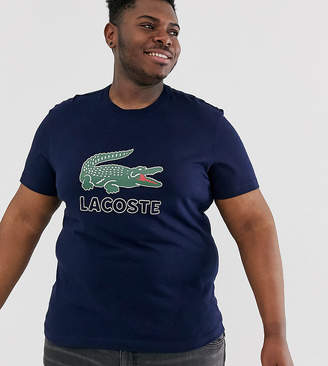 Lacoste large chest logo t-shirt in navy