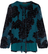 Co Flocked Georgette Blouse - x small