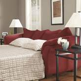 """Andover Mills Torin 90"""" Flared Arms Sofa Bed Fabric: Salsa"""