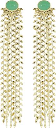 Carla Amorim Chrysoprase Thousand Leaves Earrings
