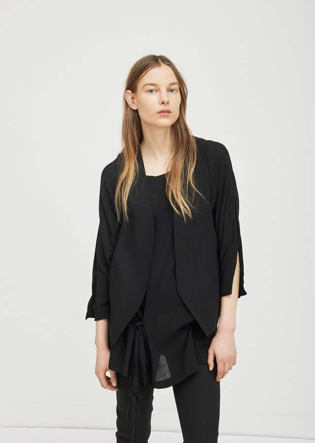 Ann Demeulemeester Tailored Waistcoat Lightlant Black