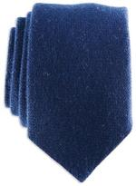 Black Navy Blue Knitted Cashmere Tie