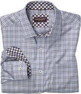 Johnston & Murphy Micro ZigZag Windowpane Shirt
