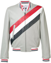 Thom Browne leather bomber jacket
