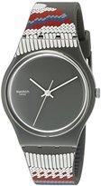 Swatch Men's GM183 Analog Display Swiss Quartz Red-Grey Watch
