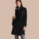 Burberry Kensington Fit Cashmere Trench Coat