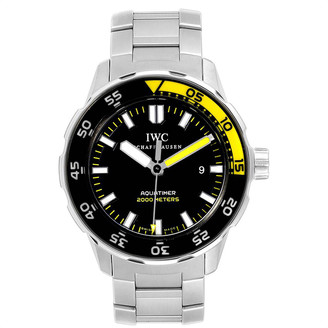 IWC Black and Stainless Steel Aquatimer 2000 IW356801 Men's Wristwatch 44MM