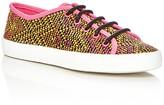 Sam Edelman Girls' Woven Print Slip On Sneakers