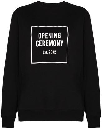 Opening Ceremony Box Logo Print Sweatshirt
