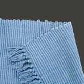 "Unknown Carpet Runners Blue 100% Cotton Prairy Style Rug Runner 30 X 96"""