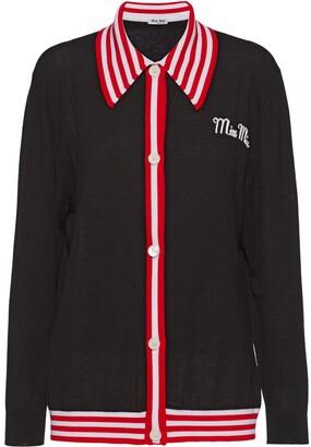 Miu Miu Stripe-Trim Cardigan
