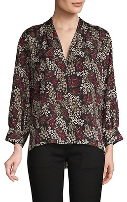Joie Floral High-Low Blouse