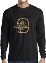 lepni.me N4194L T-shirt long sleeve Eat Sleep Skate Repeat ( Black Gold)