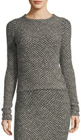Ralph Lauren Long-Sleeve Herringbone Knit Sweater