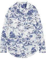 L'Agence Margaret Printed Silk Blouse