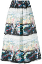 Burberry printed skirt - women - Cotton/Spandex/Elastane - 6