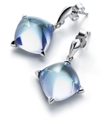 Baccarat Silver and Crystal Medicis Stud Earrings