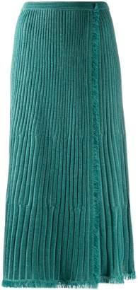 Diane von Furstenberg Brooklyn wrap midi skirt