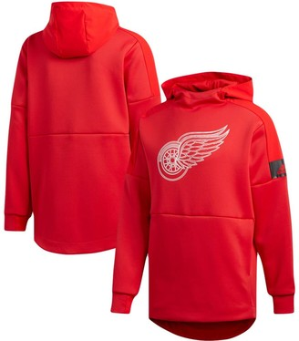 adidas Men's Red Detroit Red Wings Game Mode Pullover Hoodie
