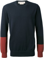 Marni colour block jumper - men - Cotton - 50